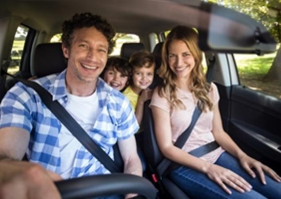 How can you make sure your family is safe in the car?